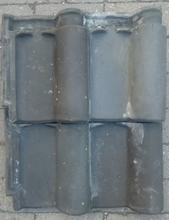 Gebruikte/tweedehands klein romaanse grijs dakpan